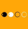 eyeball black and white set icon vector image vector image