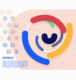 family concept with thin line icons vector image vector image