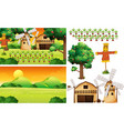 farm element set isolated with scence vector image