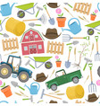 farming agricultural seamless vector image vector image
