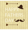Fathers Day Icons and Cards vector image