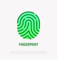 fingerprint thin line icon vector image