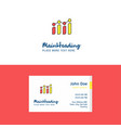 flat graph logo and visiting card template vector image vector image