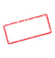 frame of rubber stamps vector image