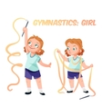 Girl doing gymnastics vector image vector image