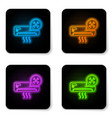 glowing neon air conditioner with screwdriver and vector image vector image