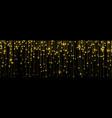 golden rain gold glitter particles falling vector image