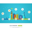 Green eco city infographic Ecology concept vector image vector image