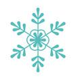 green snowflake decoration celebration merry vector image
