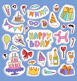 happy birthday party symbols carnival vector image vector image