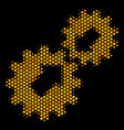hexagon halftone integration icon vector image