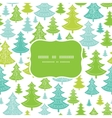 Holiday Christmas trees frame seamless pattern vector image vector image