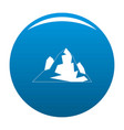 iceberg icon blue vector image vector image
