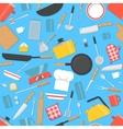 Kitchen utensils seamless pattern vector image vector image