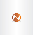 letter n brown circle icon vector image vector image