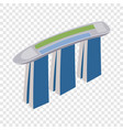 marina bay sands hotel in singapore isometric icon vector image vector image