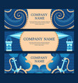 Marine set of banners vector image