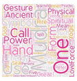 Mudras Hand Symbolism What Are Mudras Part 1 text vector image vector image