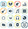 multimedia icons set collection of equalizer vector image vector image