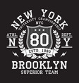 new york typography print vector image vector image