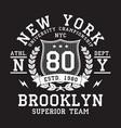 new york typography print vector image vector image