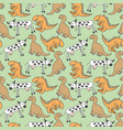pattern seamless kids with dino doodle element vector image