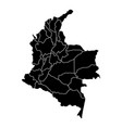 political map of colombia vector image vector image