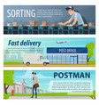 post mail delivery banners vector image vector image