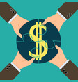profit from the partnerships vector image vector image