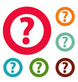 question mark sign icons circle set vector image