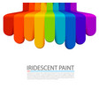 rainbow paint flows down on a white background vector image vector image