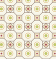 Retro Flower Circle and Square Pattern vector image vector image