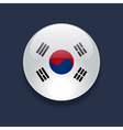 round icon with flag south korea vector image