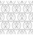 sacred geometry seamless pattern vector image