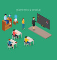 school education isometric design concept with vector image vector image