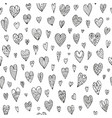 seamless doodle pattern with different hearts vector image vector image