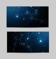 set horizontal banners geometric pattern vector image