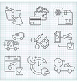 Shoopping store and delivery icons set vector image vector image