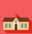 small church icon flat style vector image vector image
