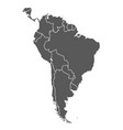 south america grey contour map countries vector image vector image