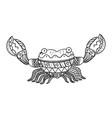 stylized crab isolated on white background vector image