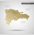 stylized dominican republic map vector image vector image