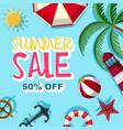 summer sale 50 percent off poster design vector image
