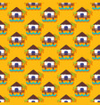summer seamless pattern with bungalow vector image vector image