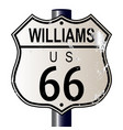 williams route 66 sign vector image vector image