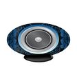 black and blue audio speaker vector image