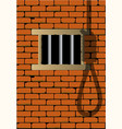 prison cell vector image