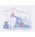 The oil industry pumps trade and profit vector image