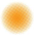 abstract halftone design element orange pop art vector image