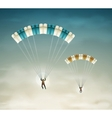 Two parachutists vector image